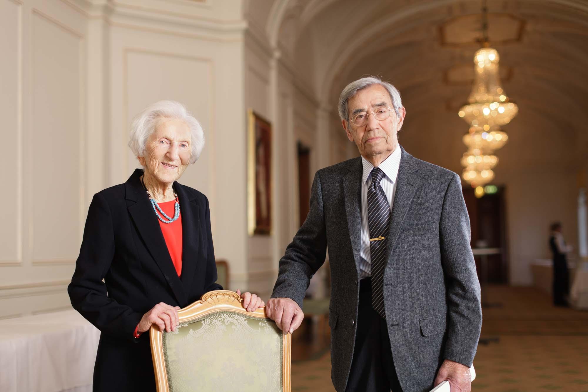 Hédi Fried och Emerich Roth. Foto: Björn Qvarfordt.